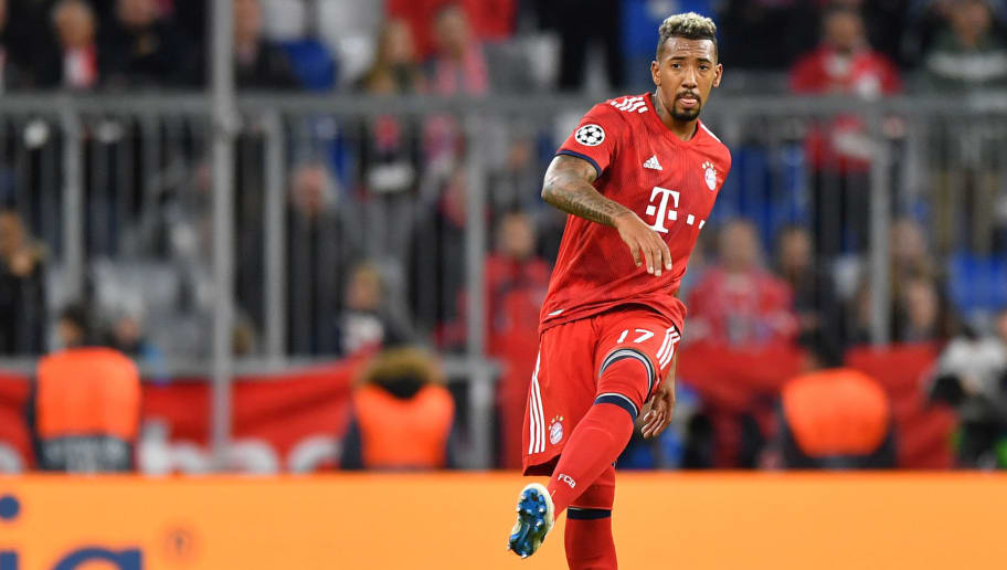 MUNICH, GERMANY - OCTOBER 02: Jerome Boateng of Bayern Muenchen plays the ball during the Group E match of the UEFA Champions League between FC Bayern Muenchen and Ajax at Allianz Arena on October 2, 2018 in Munich, Germany. (Photo by Sebastian Widmann/Bongarts/Getty Images)