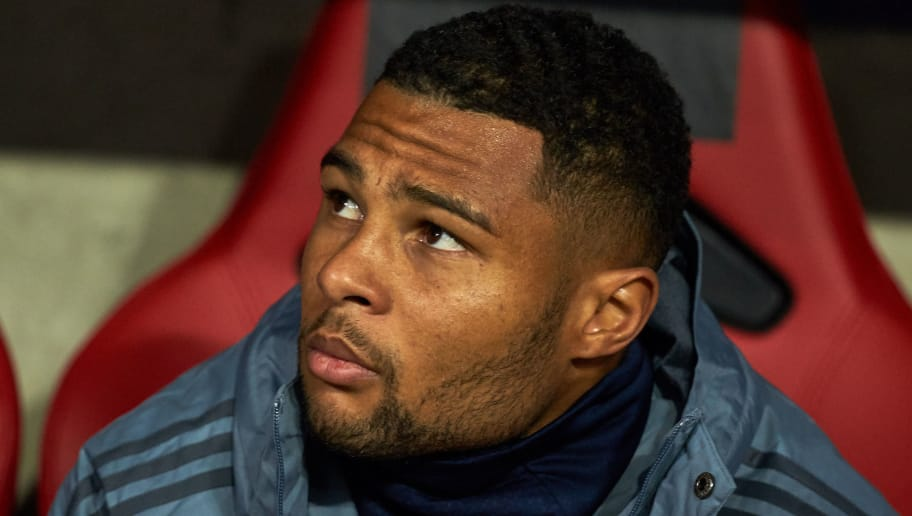 DORTMUND, GERMANY - OCTOBER 03: Serge Gnabry of Bayern Muenchen   looks on during the Group A match of the UEFA Champions League between Borussia Dortmund and AS Monaco at Signal Iduna Park on October 3, 2018 in Dortmund, Germany. (Photo by TF-Images/TF-Images via Getty Images)