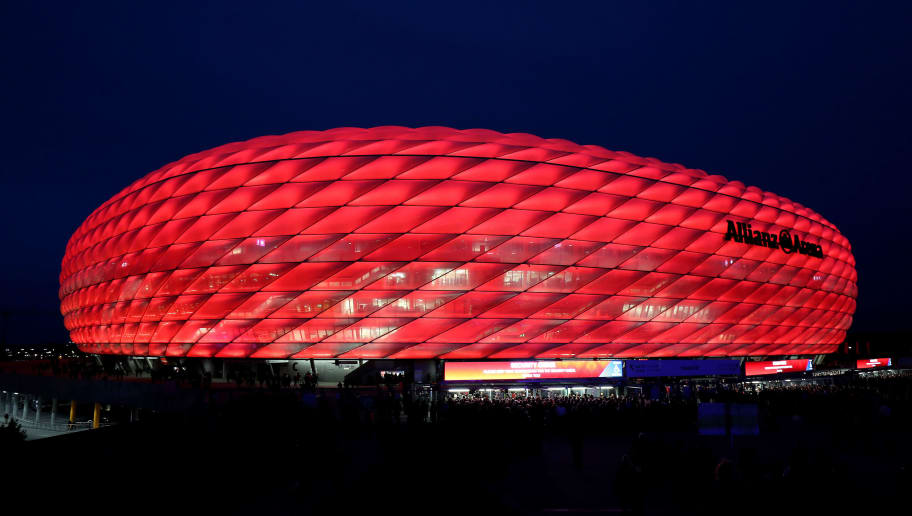 MUNICH, GERMANY - OCTOBER 02:  General view outside the stadium prior to the Group E match of the UEFA Champions League between FC Bayern Muenchen and Ajax at Allianz Arena on October 2, 2018 in Munich, Germany.  (Photo by Christian Kaspar-Bartke/Bongarts/Getty Images)