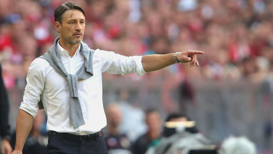 MUNICH, GERMANY - SEPTEMBER 15:  Niko Kovac, head coach of Bayern Muenchen reacts duirng the Bundesliga match between FC Bayern Muenchen and Bayer 04 Leverkusen at Allianz Arena on September 15, 2018 in Munich, Germany.  (Photo by Alexander Hassenstein/Bongarts/Getty Images)