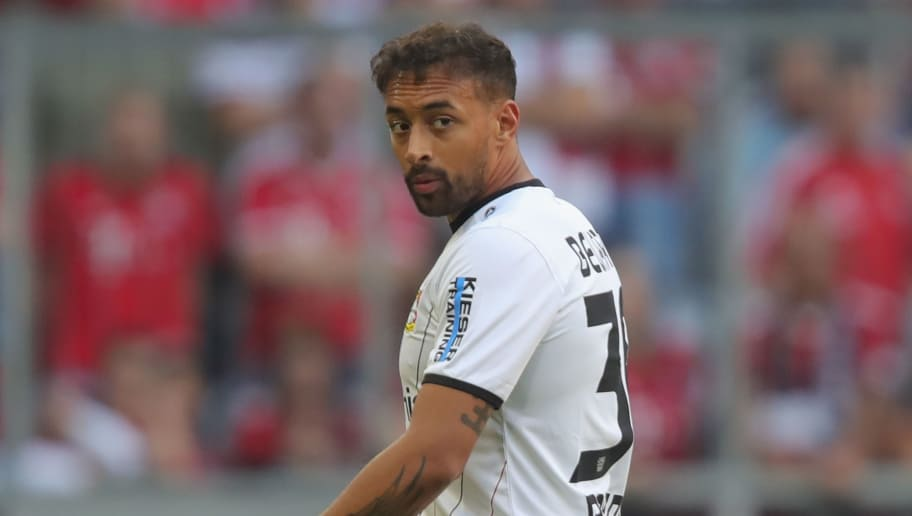 MUNICH, GERMANY - SEPTEMBER 15: Karim Bellarabi of Leverkusen leaves the field after receiving the red card  during the Bundesliga match between FC Bayern Muenchen and Bayer 04 Leverkusen at Allianz Arena on September 15, 2018 in Munich, Germany.  (Photo by Alexander Hassenstein/Bongarts/Getty Images)