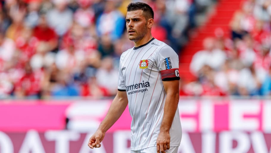 MUNICH, GERMANY - SEPTEMBER 15: Kevin Volland of Leverkusen looks on during the Bundesliga match between FC Bayern Muenchen and Bayer 04 Leverkusen on September 15, 2018 in Munich, Germany. (Photo by TF-Images/Getty Images)