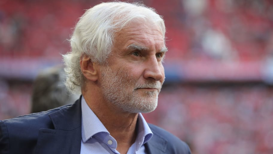 MUNICH, GERMANY - SEPTEMBER 15:  Rudi Voeller, Sporting Director of Leverkusen looks on prior to the Bundesliga match between FC Bayern Muenchen and Bayer 04 Leverkusen at Allianz Arena on September 15, 2018 in Munich, Germany.  (Photo by Alexander Hassenstein/Bongarts/Getty Images)