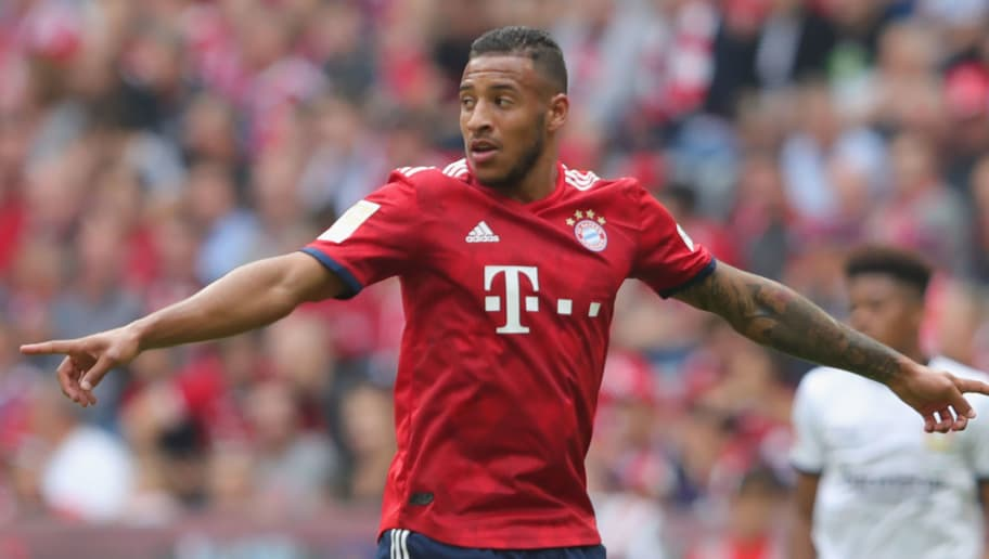 MUNICH, GERMANY - SEPTEMBER 15:  Corentin Tolisso of Muenchen reacts during the Bundesliga match between FC Bayern Muenchen and Bayer 04 Leverkusen at Allianz Arena on September 15, 2018 in Munich, Germany.  (Photo by Alexander Hassenstein/Bongarts/Getty Images)