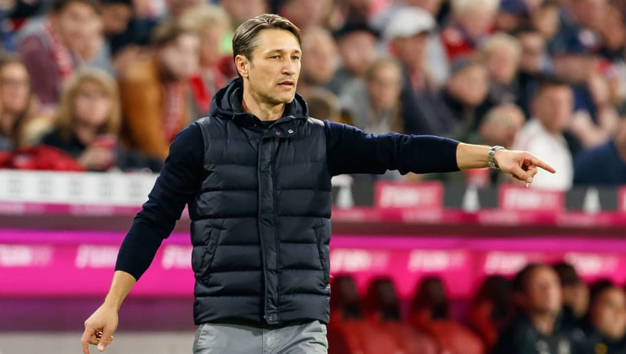 MUNICH, GERMANY - OCTOBER 06: ChefHead coach Niko Kovac of Bayern Muenchen gestures during the Bundesliga match between FC Bayern Muenchen and Borussia Moenchengladbach at Allianz Arena on October 6, 2018 in Munich, Germany. (Photo by TF-Images/Getty Images)