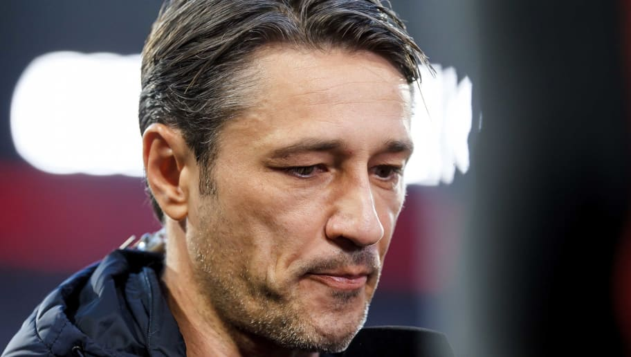 MUNICH, GERMANY - OCTOBER 06: ChefHead coach Niko Kovac of Bayern Muenchen looks on prior to the Bundesliga match between FC Bayern Muenchen and Borussia Moenchengladbach at Allianz Arena on October 6, 2018 in Munich, Germany. (Photo by TF-Images/Getty Images)