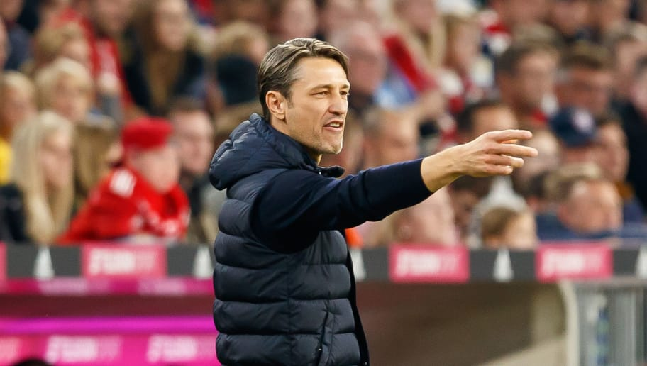 MUNICH, GERMANY - OCTOBER 06: Head coach Niko Kovac of Bayern Muenchen gestures during the Bundesliga match between FC Bayern Muenchen and Borussia Moenchengladbach at Allianz Arena on October 6, 2018 in Munich, Germany. (Photo by TF-Images/Getty Images)
