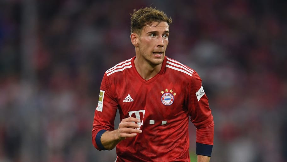 MUNICH, GERMANY - OCTOBER 06: Leon Goretzka of FC Bayern Muenchen controls the ball during the Bundesliga match between FC Bayern Muenchen and Borussia Moenchengladbach at Allianz Arena on October 06, 2018 in Munich, Germany. (Photo by Matthias Hangst/Bongarts/Getty Images)