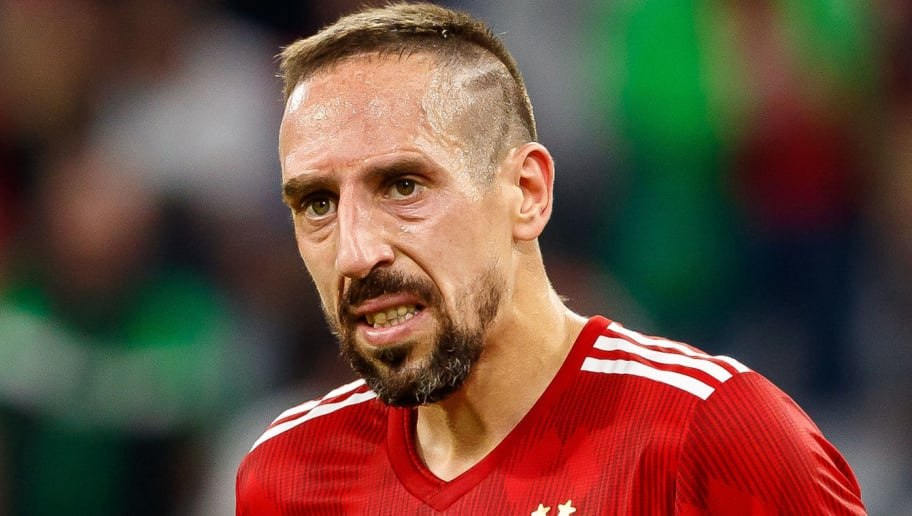 MUNICH, GERMANY - OCTOBER 06: Franck Ribery of Bayern Muenchen looks on during the Bundesliga match between FC Bayern Muenchen and Borussia Moenchengladbach at Allianz Arena on October 6, 2018 in Munich, Germany. (Photo by TF-Images/Getty Images)