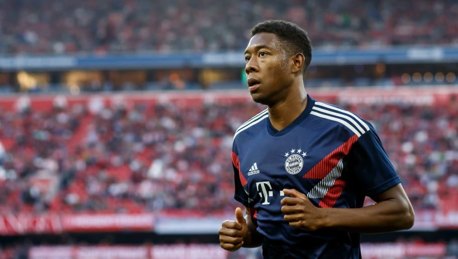 MUNICH, GERMANY - OCTOBER 06: David Alaba of Bayern Muenchen looks on prior to the Bundesliga match between FC Bayern Muenchen and Borussia Moenchengladbach at Allianz Arena on October 6, 2018 in Munich, Germany. (Photo by TF-Images/Getty Images)
