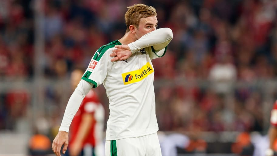 MUNICH, GERMANY - OCTOBER 06: Christoph Kramer of Borussia Moenchengladbach looks on during the Bundesliga match between FC Bayern Muenchen and Borussia Moenchengladbach at Allianz Arena on October 6, 2018 in Munich, Germany. (Photo by TF-Images/Getty Images)