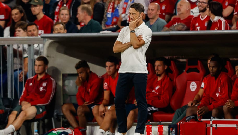 MUNICH, GERMANY - AUGUST 28: ChefHead coach Niko Kovac of Bayern Muenchen looks on during the friendly match between FC Bayern Muenchen and Chicago Fire at Allianz Arena on August 28, 2018 in Munich, Germany. (Photo by TF-Images/Getty Images)