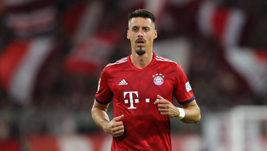 MUNICH, GERMANY - SEPTEMBER 25:  Sandro Wagner of Bayern Muenchen looks on during the Bundesliga match between FC Bayern Muenchen and FC Augsburg at Allianz Arena on September 25, 2018 in Munich, Germany.  (Photo by Alexander Hassenstein/Bongarts/Getty Images)