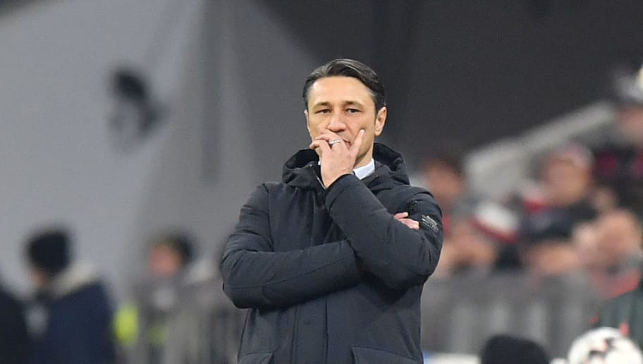 MUNICH, GERMANY - NOVEMBER 24: Head coach Niko Kovac of Bayern Muenchen looks on during the Bundesliga match between FC Bayern Muenchen and Fortuna Duesseldorf at Allianz Arena on November 24, 2018 in Munich, Germany. (Photo by Sebastian Widmann/Bongarts/Getty Images)