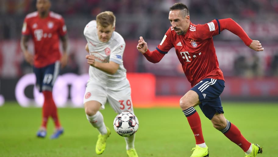 MUNICH, GERMANY - NOVEMBER 24: Franck Ribery of Bayern Muenchen runs after the ball during the Bundesliga match between FC Bayern Muenchen and Fortuna Duesseldorf at Allianz Arena on November 24, 2018 in Munich, Germany. (Photo by Sebastian Widmann/Bongarts/Getty Images)