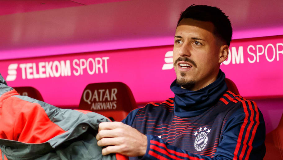 MUNICH, GERMANY - NOVEMBER 24: Sandro Wagner of Bayern Muenchen looks on prior the Bundesliga match between FC Bayern Muenchen and Fortuna Duesseldorf at Allianz Arena on November 24, 2018 in Munich, Germany. (Photo by TF-Images/Getty Images)