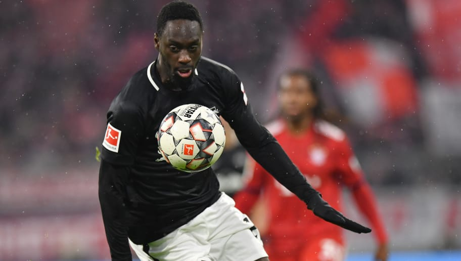 MUNICH, GERMANY - DECEMBER 19: Jean-Kevin Augustinof Leipzig plays the ball during the Bundesliga match between FC Bayern Muenchen and RB Leipzig at Allianz Arena on December 19, 2018 in Munich, Germany. (Photo by Sebastian Widmann/Bongarts/Getty Images)
