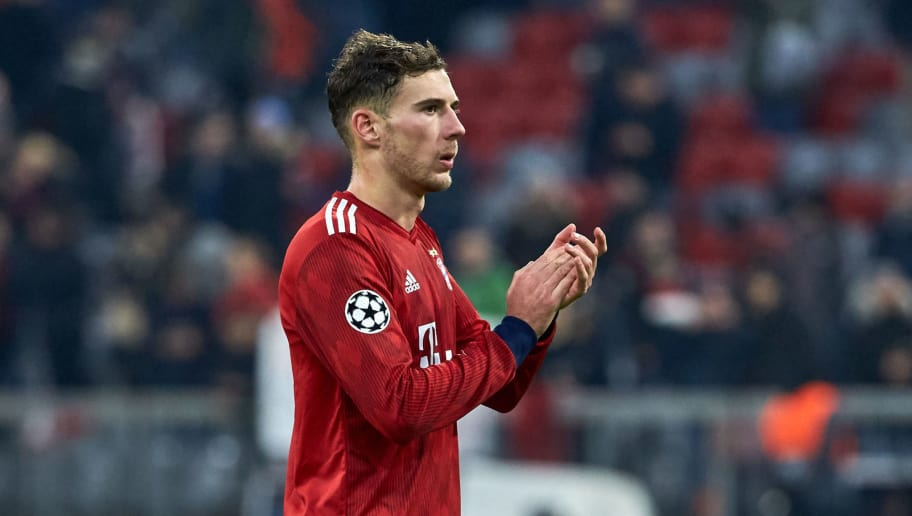 MUNICH, GERMANY - NOVEMBER 27: Leon Goretzka of Bayern Muenchen looks on during the Group E match of the UEFA Champions League between FC Bayern Muenchen and SL Benfica at Allianz Arena on November 27, 2018 in Munich, Germany. (Photo by TF-Images/Getty Images)