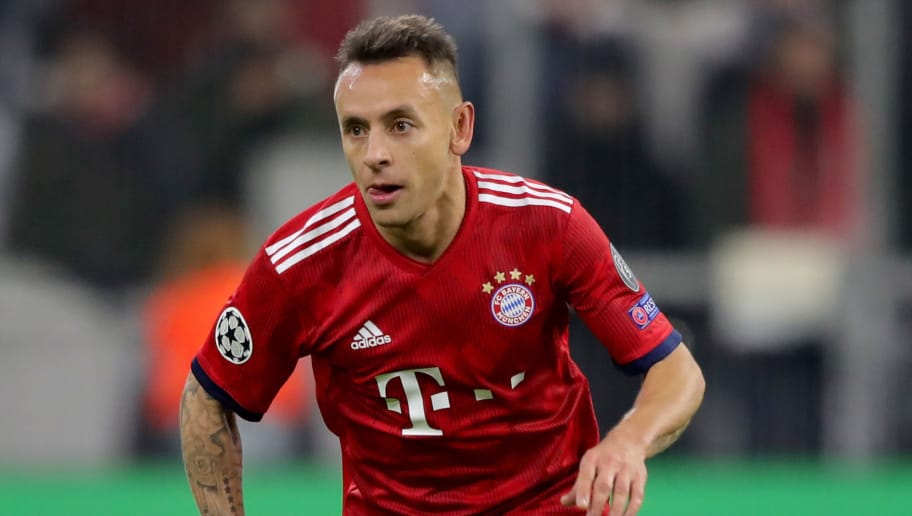 MUNICH, GERMANY - NOVEMBER 27:  Rafinha of FC Bayern Muenchen runs with the ball during the Group E match of the UEFA Champions League between FC Bayern Muenchen and SL Benfica at Allianz Arena on November 27, 2018 in Munich, Germany.  (Photo by Alexander Hassenstein/Bongarts/Getty Images)