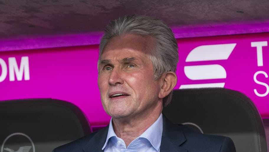 MUNICH, GERMANY - OCTOBER 14: Jupp Heynckes, coach of Muenchen, during the Bundesliga match between FC Bayern Muenchen and Sport-Club Freiburg at Allianz Arena on October 14, 2017 in Munich, Germany. (Photo by Jan Hetfleisch/Bongarts/Getty Images)