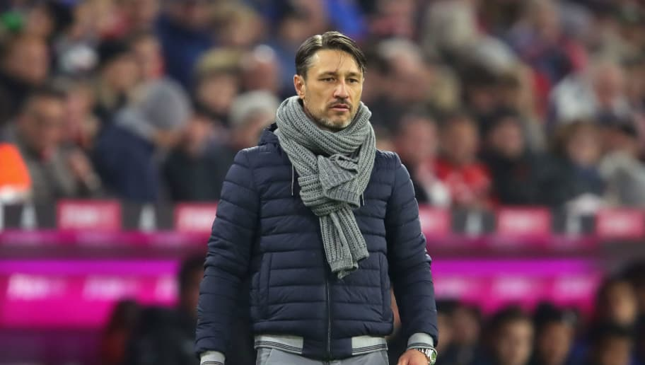 MUNICH, GERMANY - NOVEMBER 03:  Niko Kovac, head coach of Bayern Muenchen looks on during the Bundesliga match between FC Bayern Muenchen and Sport-Club Freiburg at Allianz Arena on November 3, 2018 in Munich, Germany.  (Photo by Alexander Hassenstein/Bongarts/Getty Images)