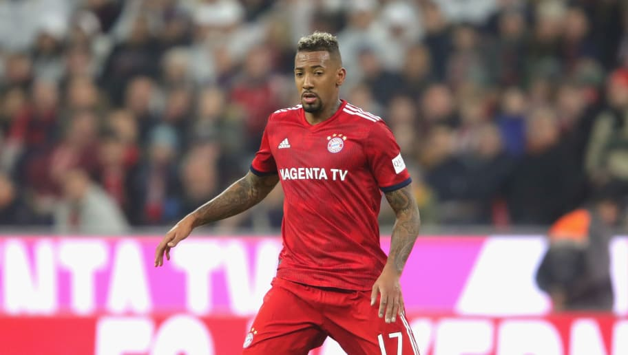 MUNICH, GERMANY - NOVEMBER 03:  Jerome Boateng of Bayern Muenchen runs with the ball during the Bundesliga match between FC Bayern Muenchen and Sport-Club Freiburg at Allianz Arena on November 3, 2018 in Munich, Germany.  (Photo by Alexander Hassenstein/Bongarts/Getty Images)