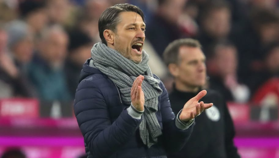 MUNICH, GERMANY - NOVEMBER 03:  Niko Kovac, head coach of Bayern Muenchen gives instructions to his players during the Bundesliga match between FC Bayern Muenchen and Sport-Club Freiburg at Allianz Arena on November 3, 2018 in Munich, Germany.  (Photo by Alexander Hassenstein/Bongarts/Getty Images)
