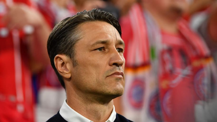 MUNICH, GERMANY - AUGUST 24: Head coach Niko Kovac of Bayern Muenchen looks on during the Bundesliga match between FC Bayern Muenchen and TSG 1899 Hoffenheim at Allianz Arena on August 24, 2018 in Munich, Germany. (Photo by Sebastian Widmann/Bongarts/Getty Images)