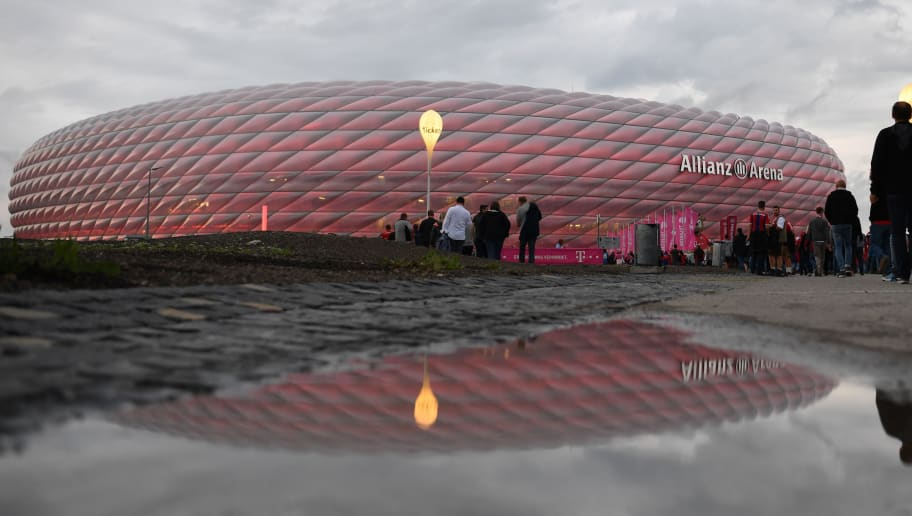 MUNICH, GERMANY - AUGUST 24: Spectators are walking towards the stadium prior to the Bundesliga match between FC Bayern Muenchen and TSG 1899 Hoffenheim at Allianz Arena on August 24, 2018 in Munich, Germany. (Photo by Sebastian Widmann/Bongarts/Getty Images)