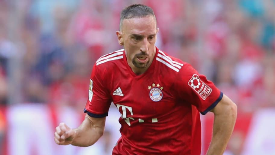 MUNICH, GERMANY - MAY 12:  Franck Ribery of FC Bayern Muenchen runs with the ball during the Bundesliga match between FC Bayern Muenchen and VfB Stuttgart at Allianz Arena on May 12, 2018 in Munich, Germany.  (Photo by Alexander Hassenstein/Bongarts/Getty Images)