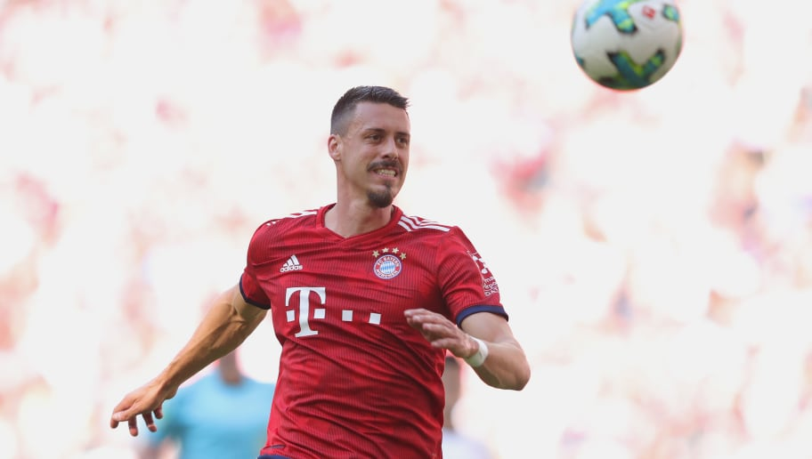 MUNICH, GERMANY - MAY 12:   Sandro Wagner  of FC Bayern Muenchen runs with the ball during the Bundesliga match between FC Bayern Muenchen and VfB Stuttgart at Allianz Arena on May 12, 2018 in Munich, Germany.  (Photo by Alexander Hassenstein/Bongarts/Getty Images)