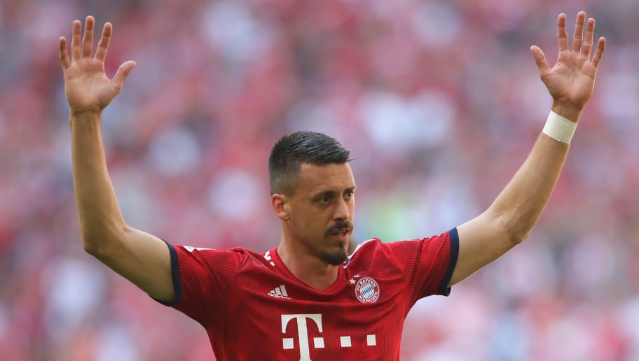 MUNICH, GERMANY - MAY 12:  Sandro Wagner  of FC Bayern Muenchen reacts during the Bundesliga match between FC Bayern Muenchen and VfB Stuttgart at Allianz Arena on May 12, 2018 in Munich, Germany.  (Photo by Alexander Hassenstein/Bongarts/Getty Images)