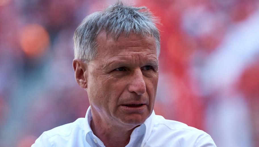 MUNICH, GERMANY - MAY 12: Sporting director Michael Reschke of Stuttgart looks on prior to the Bundesliga match between FC Bayern Muenchen and VfB Stuttgart at Allianz Arena on May 12, 2018 in Munich, Germany. (Photo by TF-Images/Getty Images)