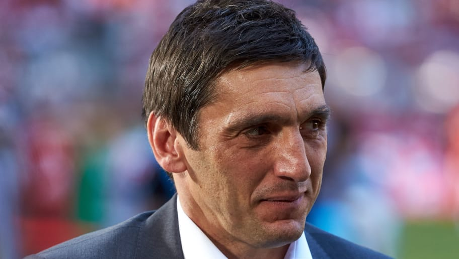 MUNICH, GERMANY - MAY 12: Head coach Tayfun Korkut of Stuttgart looks on prior to the Bundesliga match between FC Bayern Muenchen and VfB Stuttgart at Allianz Arena on May 12, 2018 in Munich, Germany. (Photo by TF-Images/Getty Images)