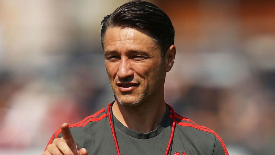 ROTTACH-EGERN, GERMANY - AUGUST 06:  Nico Kovac head coach of Bayern Munich in action during the FC Bayern Munich Training Camp on August 6, 2018 in Rottach-Egern, Germany.  (Photo by Adam Pretty/Bongarts/Getty Images)
