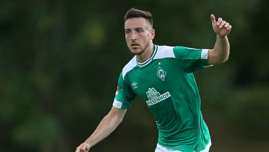 BREMERHAVEN, GERMANY - JULY 10: Kevin Moehwald of Werder Bremen controls the ball during the friendly match between FC Eintracht Cuxhaven and Werder Bremen on July 10, 2018 in Cuxhaven, Germany. (Photo by TF-Images/Getty Images)