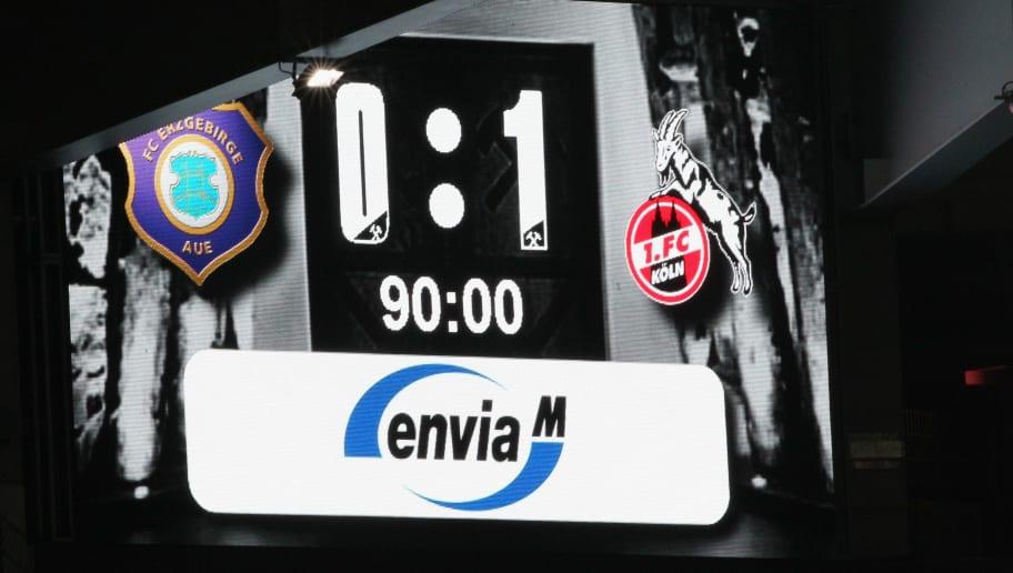 FC Erzgebirge Aue v 1. FC Koeln - Second Bundesliga