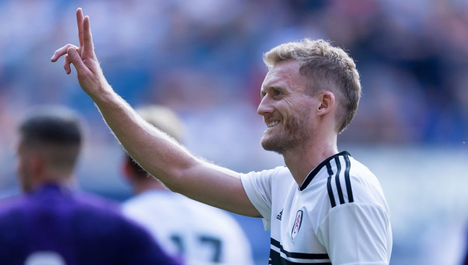 DUISBURG, GERMANY - JULY 28: Andre Schuerrle of AC Florenz gestures during the Cup der Traditionen match between FC Fulham and AC Florenz on July 28, 2018 in Duisburg, Germany. (Photo by TF-Images/Getty Images)