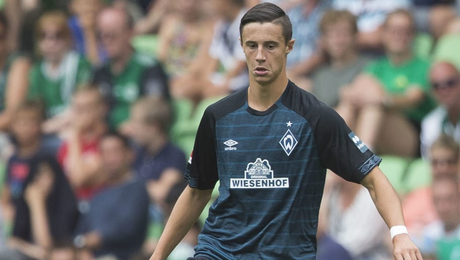 GRONINGEN, NETHERLANDS - JULY 29: Marco Friedl of Werder Bremen, during the Club Friendly   match between FC Groningen v Werder Bremen at the NoordLease Stadium on July 29, 2018 in Groningen Netherlands (Photo by Erwin Otten/Soccrates/Getty Images)