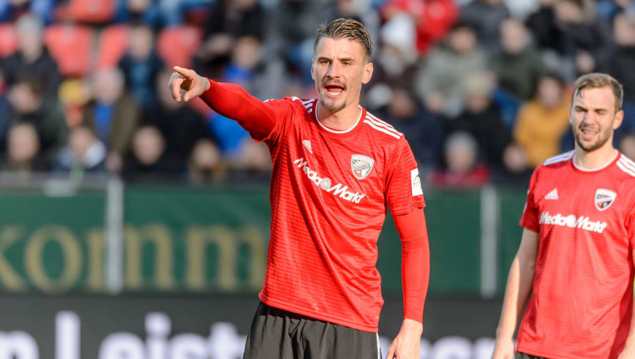 INGOLSTADT, GERMANY - DECEMBER 01: Stefan Kutschke of FC Ingolstadt gestures during the Second Bundesliga match between FC Ingolstadt 04 and Hamburger SV at Audi Sportpark on December 1, 2018 in Ingolstadt, Germany.(Photo by TF-Images/TF-Images via Getty Images)