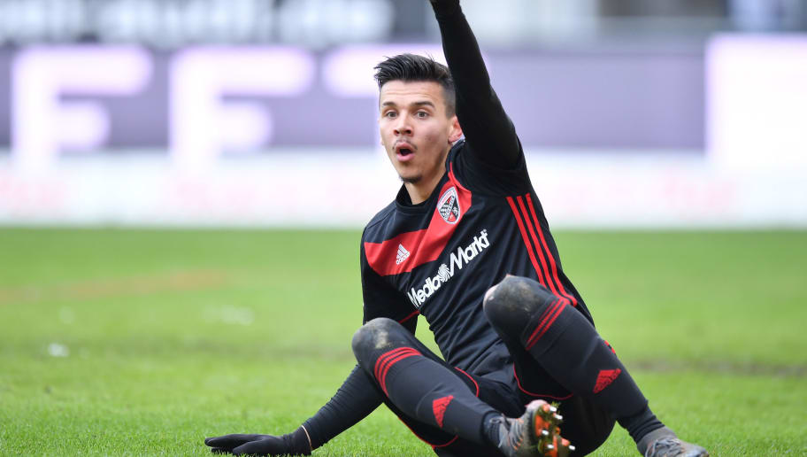 INGOLSTADT, GERMANY - MARCH 18: Alfredo Morales of Ingolstadt gestures during the Second Bundesliga match between FC Ingolstadt 04 and SG Dynamo Dresden at Audi Sportpark on March 18, 2018 in Ingolstadt, Germany. (Photo by Sebastian Widmann/Bongarts/Getty Images)