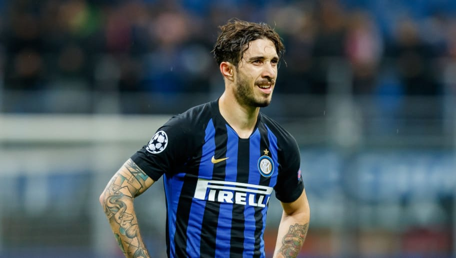 MILAN, ITALY - NOVEMBER 06: Sime Vrsaljko of FC Internazionale looks on during the Group B match of the UEFA Champions League between FC Internazionale and FC Barcelona at San Siro Stadium on November 6, 2018 in Milan, Italy. (Photo by TF-Images/Getty Images)