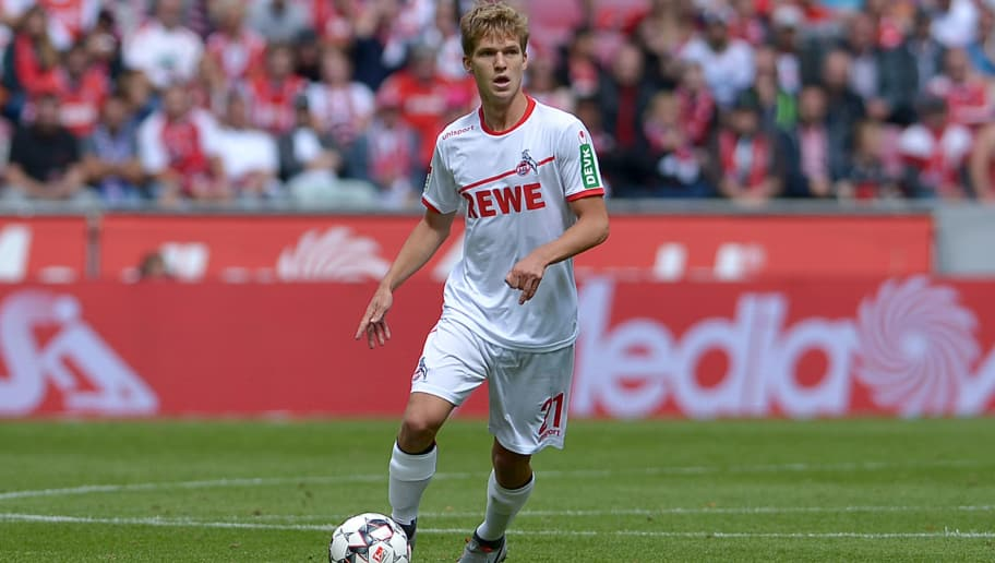 COLOGNE, GERMANY - AUGUST 25: Vincent Koziello of FC Koeln controls the ball during the second Bundesliga match between FC Koeln and FC Erzgebirge Aue at RheinEnergieStadion on August 25, 2018 in Cologne, Germany. (Photo by TF-Images/Getty Images)