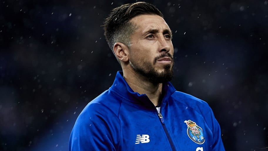 PORTO, PORTUGAL - NOVEMBER 06:  Hector Herrera of FC Porto looks on prior to the Group D match of the UEFA Champions League between FC Porto and FC Lokomotiv Moscow at Estadio do Dragao on November 6, 2018 in Porto, Portugal.  (Photo by Quality Sport Images/Getty Images)