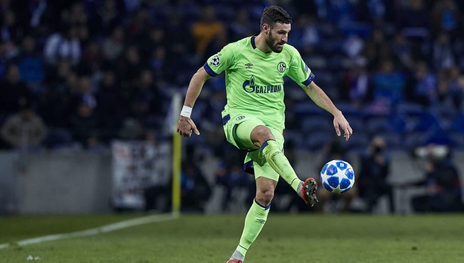 PORTO, PORTUGAL - NOVEMBER 28:  Daniel Caligiuri of Schalke 04 in action during the Group D match of the UEFA Champions League between FC Porto and FC Schalke 04 at Estadio do Dragao on November 28, 2018 in Porto, Portugal.  (Photo by Quality Sport Images/Getty Images)
