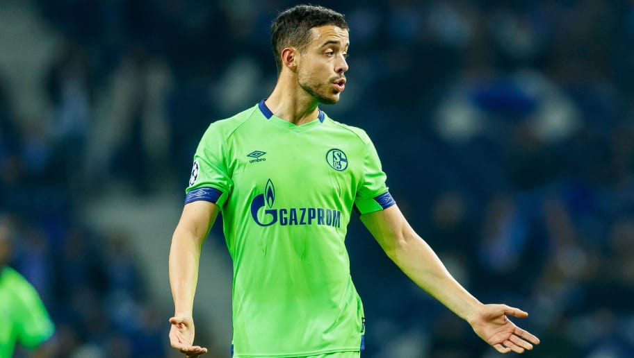 PORTO, PORTUGAL - NOVEMBER 28: Franco Di Santo of Schalke gestures during the Group D match of the UEFA Champions League between FC Porto and FC Schalke 04 at Estadio do Dragao on November 28, 2018 in Porto, Portugal. (Photo by TF-Images/TF-Images via Getty Images)