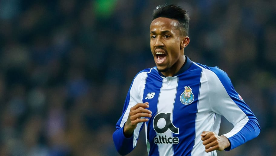 PORTO, PORTUGAL - NOVEMBER 28: Eder Militao of Porto looks on during the Group D match of the UEFA Champions League between FC Porto and FC Schalke 04 at Estadio do Dragao on November 28, 2018 in Porto, Portugal. (Photo by TF-Images/TF-Images via Getty Images)