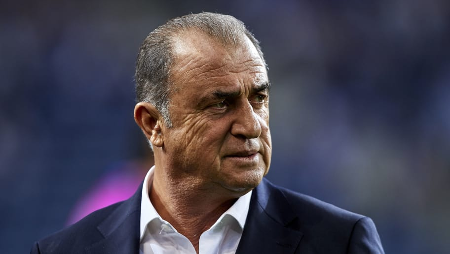 PORTO, PORTUGAL - OCTOBER 03:  Fatih Terim the manager of Galatasaray looks on prior to the Group D match of the UEFA Champions League between FC Porto and Galatasaray at Estadio do Dragao on October 3, 2018 in Porto, Portugal.  (Photo by Quality Sport Images/Getty Images)