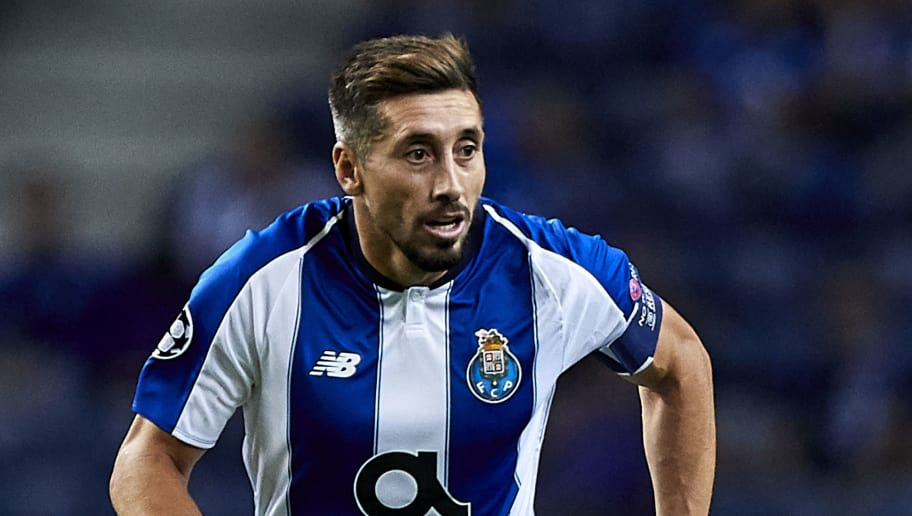 PORTO, PORTUGAL - OCTOBER 03:  Hector Herrera of FC Porto in action during the Group D match of the UEFA Champions League between FC Porto and Galatasaray at Estadio do Dragao on October 3, 2018 in Porto, Portugal.  (Photo by Quality Sport Images/Getty Images)