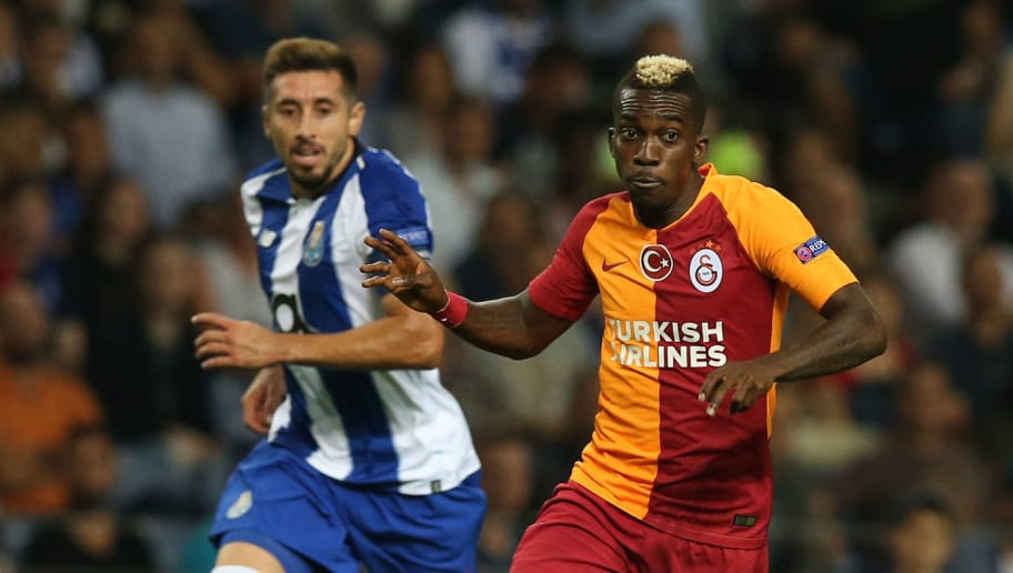 PORTO, PORTUGAL - OCTOBER 03:  Henry Onyekuru of Galatasaray in action during the UEFA Champions League Group D match between FC Porto and Galatasaray at Estadio do Dragao on October 3, 2018 in Porto, Portugal.  (Photo by Gualter Fatia/Getty Images)